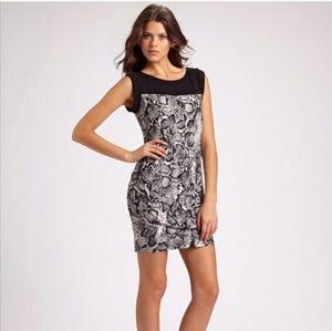 BCBG Maxazria Delia Snakeskin Print Mini Dress